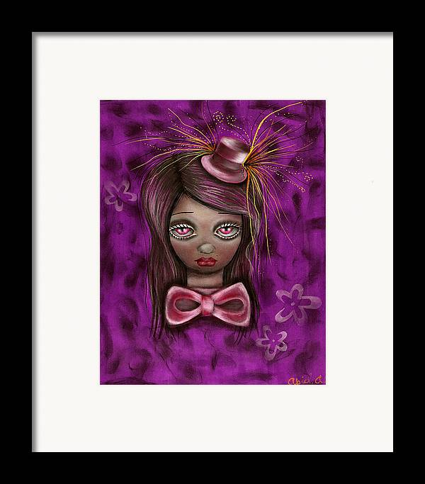 Mad Hatter Framed Print featuring the painting Purple by Abril Andrade Griffith