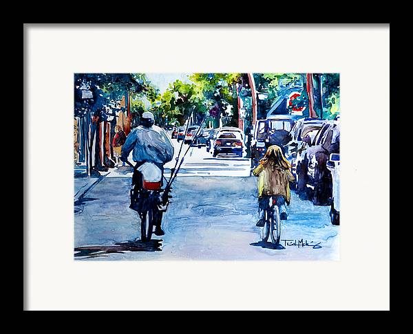 Charleston Framed Print featuring the painting Quality Time by Trish McKinney