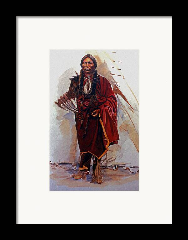 Painting Framed Print featuring the painting Quannah Parker by Harvie Brown