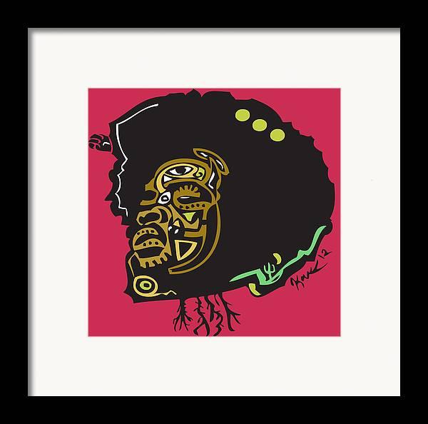Theroots Framed Print featuring the digital art Questlove by Kamoni Khem