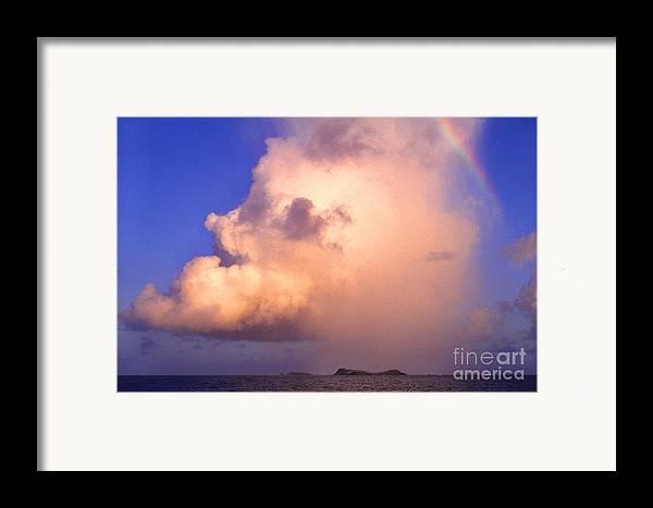 Culebra Framed Print featuring the photograph Rain Cloud And Rainbow by Thomas R Fletcher
