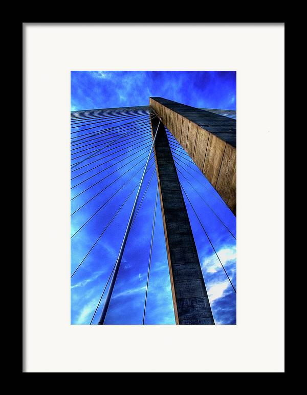 Bridge Framed Print featuring the photograph Ravenel Sky by Drew Castelhano