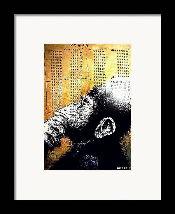Operations Of Thought Framed Print featuring the digital art Reasoning Logical Mathematical by Paulo Zerbato