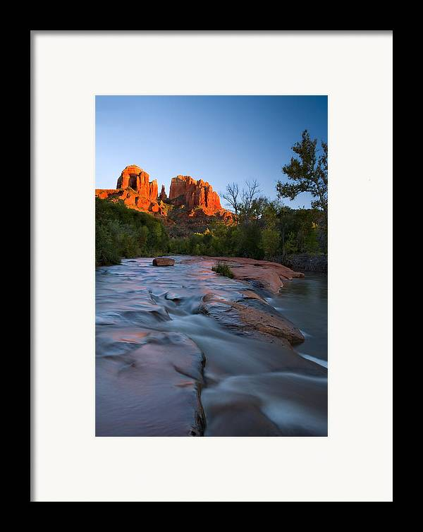Cathedral Rock Framed Print featuring the photograph Red Rock Sunset by Mike Dawson
