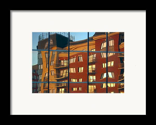 Glass Framed Print featuring the photograph Reflection Le Selection by Elisabeth Van Eyken