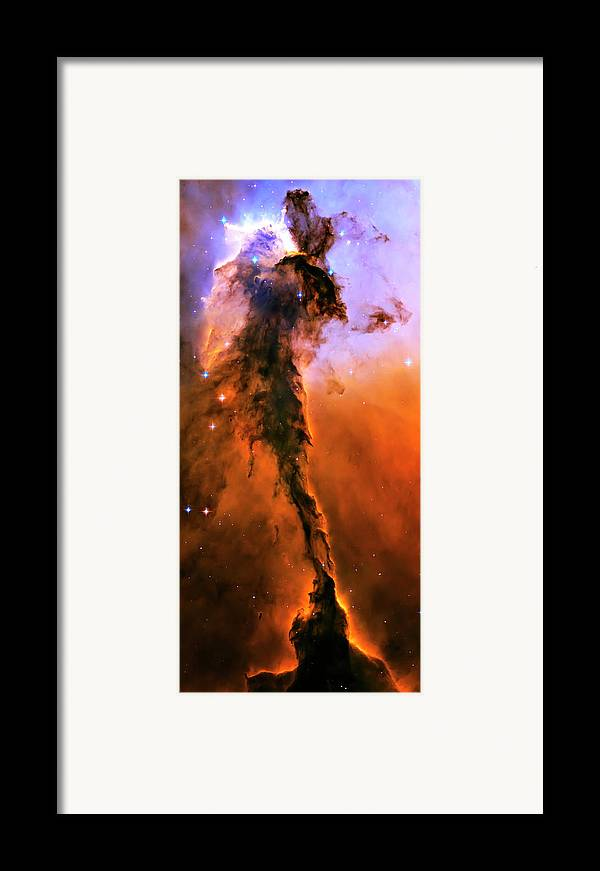 Outer Space Framed Print featuring the photograph Release - Eagle Nebula 1 by The Vault - Jennifer Rondinelli Reilly