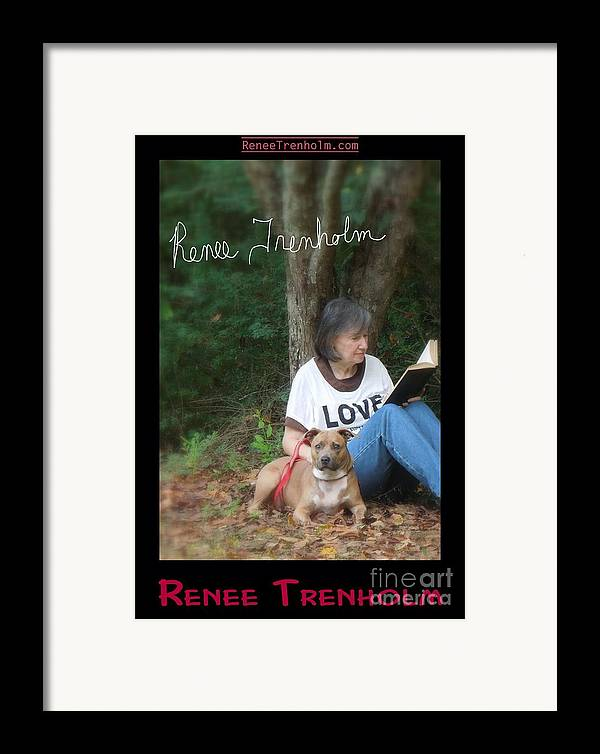 Autographed Framed Print featuring the photograph Renee Trenholm . Signed by Renee Trenholm