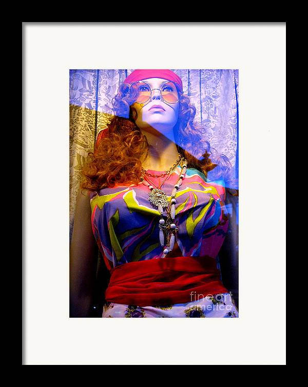 Mannequin Framed Print featuring the photograph Retro Fashion by Colleen Kammerer