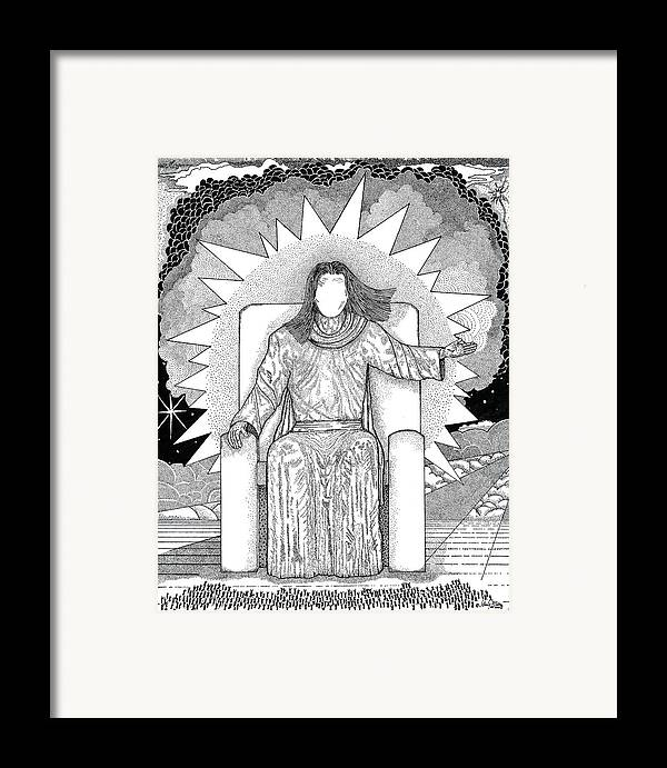 Revelation Framed Print featuring the drawing Revelation 20 by Glenn McCarthy Art and Photography