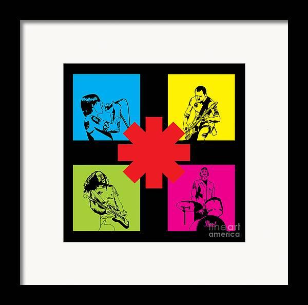 Rhcp Framed Print featuring the digital art Rhcp No.01 by Caio Caldas