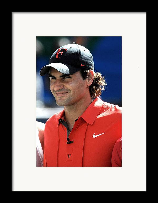 Arthur Ashe Kids Day At The Us Open Tennis Tournament Framed Print featuring the photograph Roger Federer In Attendance For Arthur by Everett