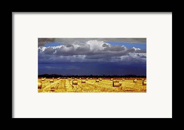 Landscape Framed Print featuring the photograph Rolling On by Holly Kempe