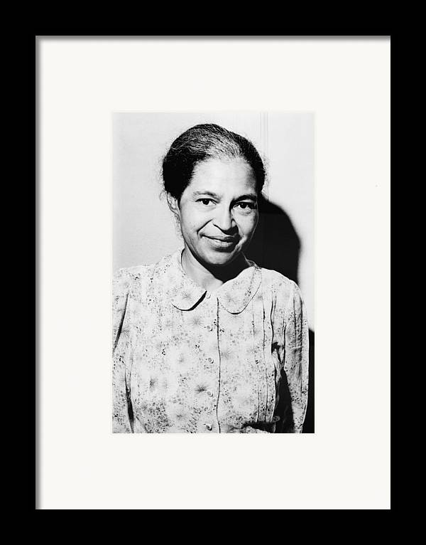 History Framed Print featuring the photograph Rosa Parks Was A Member Of The Naacp by Everett