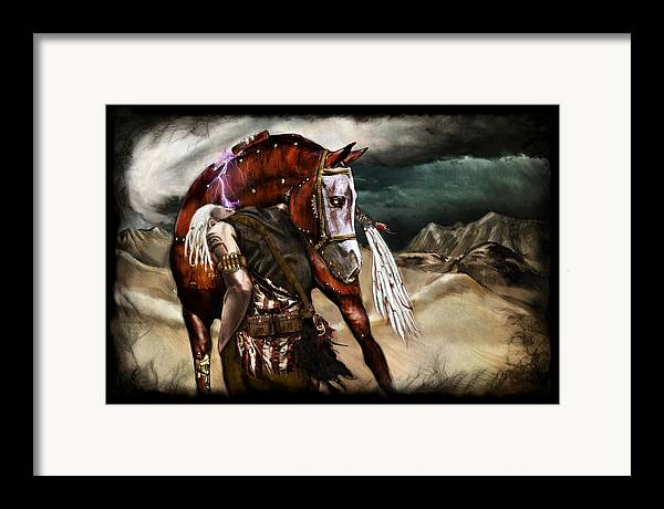 Fantasy Framed Print featuring the painting Ruined Empires - Skin Horse by Mandem