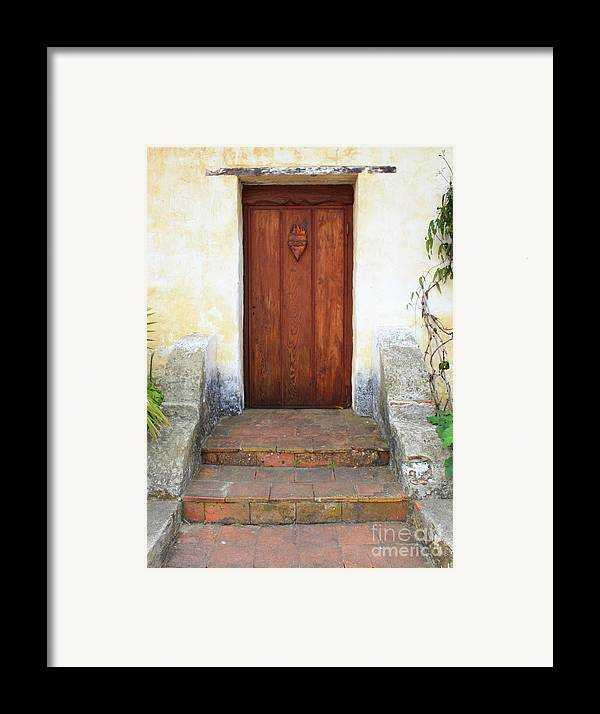 Door Framed Print featuring the photograph Sacred Heart Door by Carol Groenen