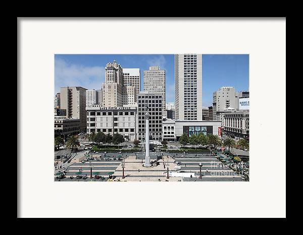 Wingsdomain Framed Print featuring the photograph San Francisco . Union Square . 5d17938 by Wingsdomain Art and Photography