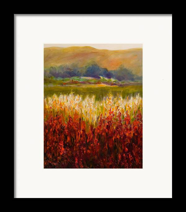 Landscape Framed Print featuring the painting Santa Rosa Valley by Shannon Grissom