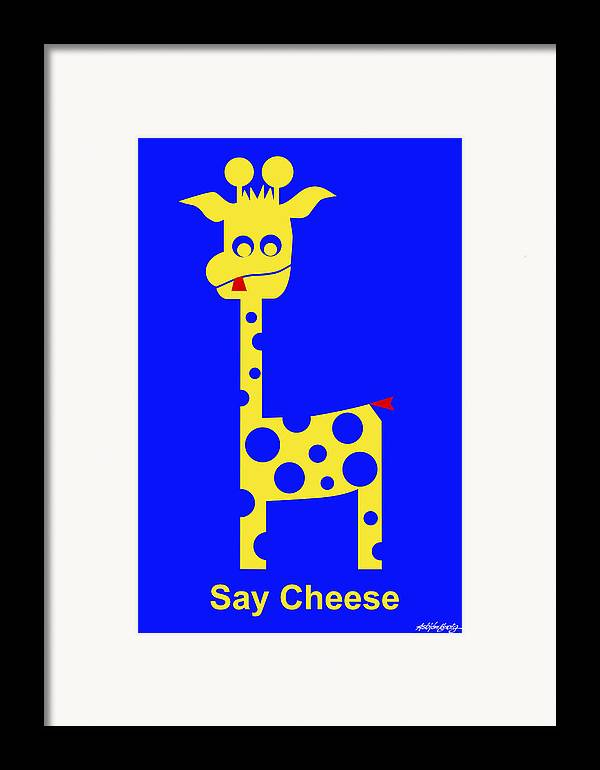 Framed Print featuring the digital art Say Cheese by Asbjorn Lonvig