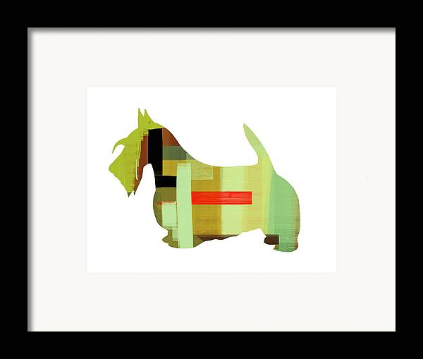 Scottish Terrier Framed Print featuring the painting Scottish Terrier by Naxart Studio