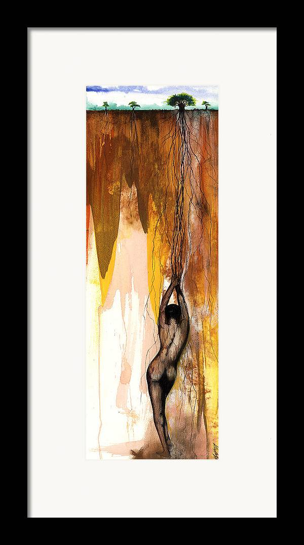 The Framed Print featuring the mixed media Second Lady by Anthony Burks Sr