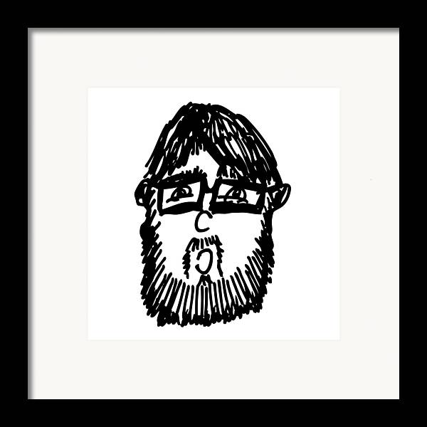 Drawing Framed Print featuring the drawing Self Comic Drawing by Karl Addison