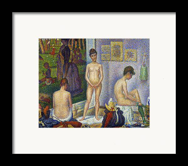 1866 Framed Print featuring the photograph Seurat: Models, C1866 by Granger