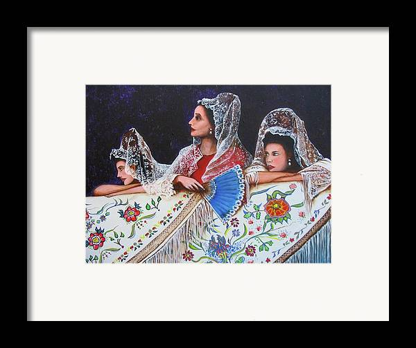 Sevilla's Ladies Framed Print by Jorge Parellada