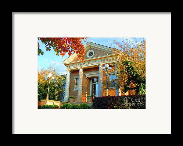 Seymour Framed Print featuring the photograph Seymour Public Library by Jost Houk