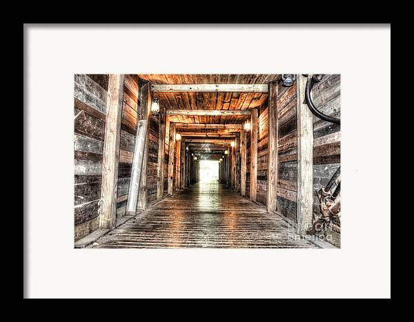 Mine Framed Print featuring the photograph Shafted by Michael Garyet