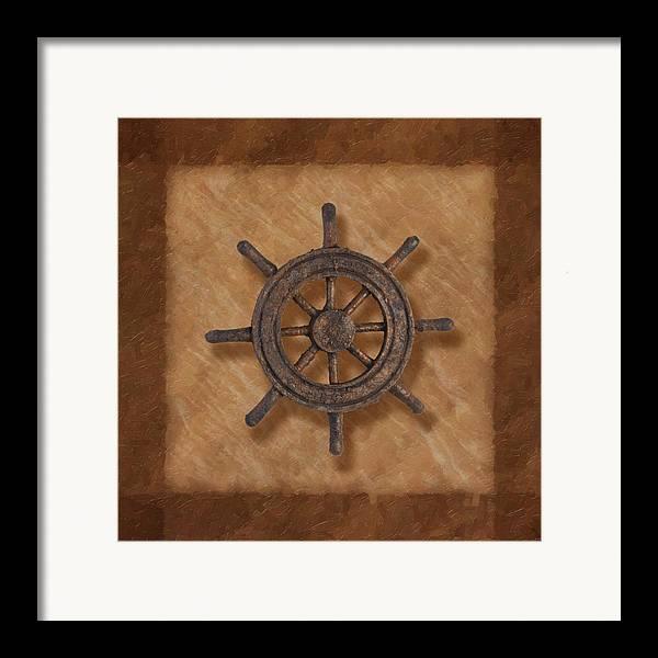 Wheel Framed Print featuring the photograph Ship's Wheel by Tom Mc Nemar
