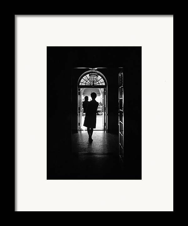 History Framed Print featuring the photograph Silhouette Portrait Of Jacqueline by Everett