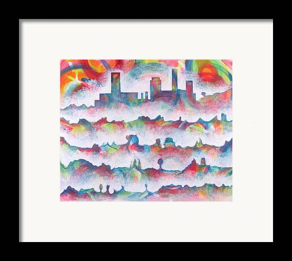 Cityscape Framed Print featuring the painting Skyline by Rollin Kocsis