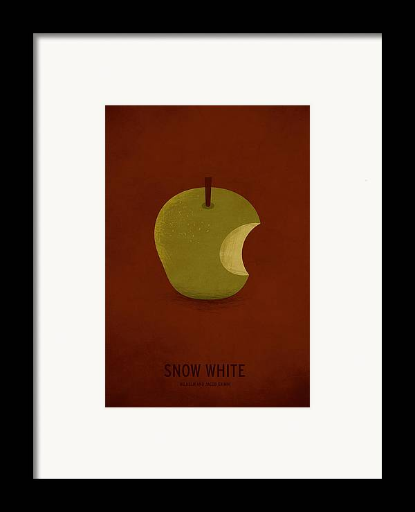 Stories Digital Art Framed Print featuring the digital art Snow White by Christian Jackson