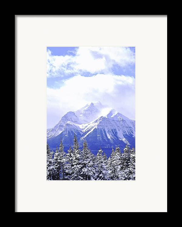 Mountain Framed Print featuring the photograph Snowy Mountain by Elena Elisseeva
