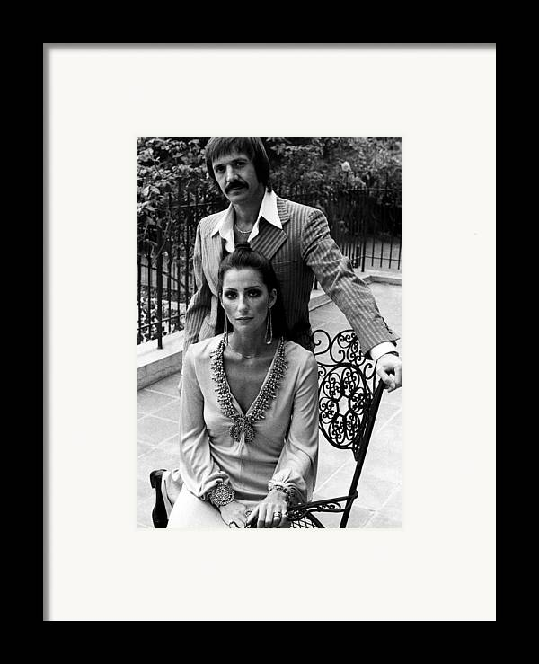 1970s Fashion Framed Print featuring the photograph Sonny & Cher, Sonny Top, Cher Bottom by Everett