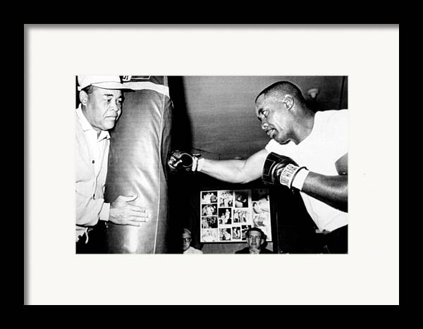 Boxer Framed Print featuring the photograph Sonny Liston Working Out On The Heavy by Everett