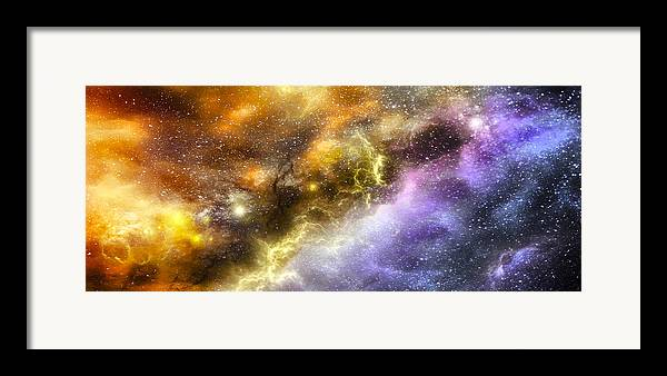 Abstract Framed Print featuring the digital art Space005 by Svetlana Sewell