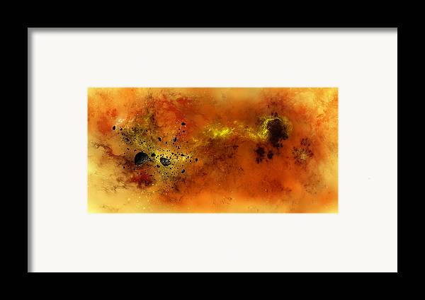 Abstract Framed Print featuring the digital art Space012 by Svetlana Sewell