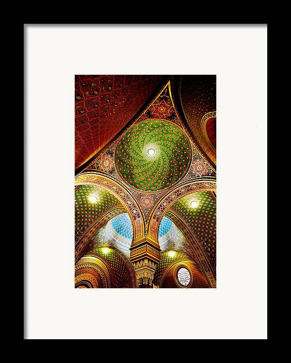 Spanish Synagogue Framed Print featuring the photograph Spanish Synagogue by John Galbo
