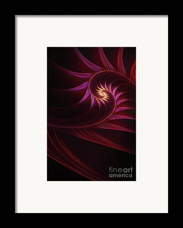 Fractal Framed Print featuring the digital art Spira Mirabilis by John Edwards