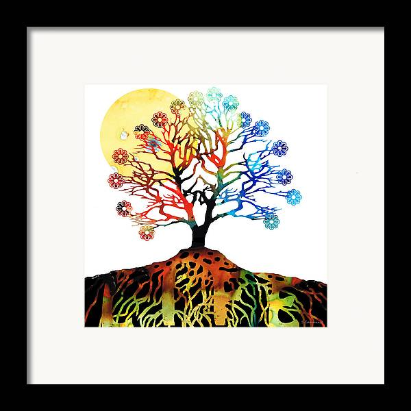 Tree Framed Print featuring the painting Spiritual Art - Tree Of Life by Sharon Cummings