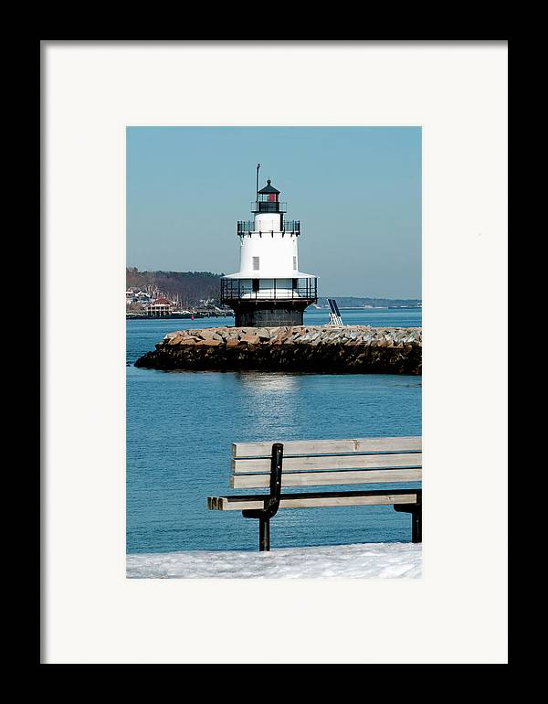 Coast Framed Print featuring the photograph Spring Point Ledge Lighthouse by Greg Fortier