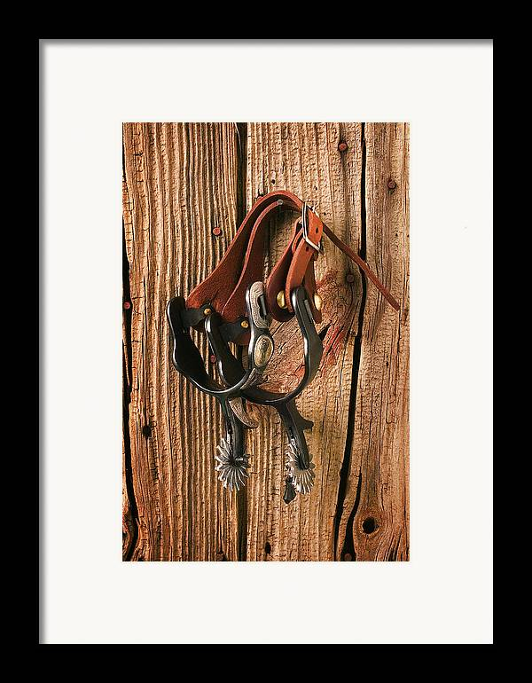 Spur Framed Print featuring the photograph Spurs by Garry Gay