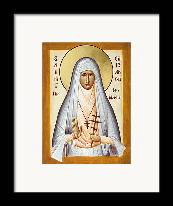 St Elizabeth The New Martyr Framed Print by Julia Bridget Hayes