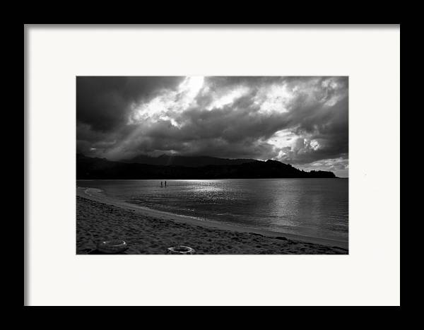 Sup Framed Print featuring the photograph Stand Up Paddlers In Stormy Skies by Lennie Green
