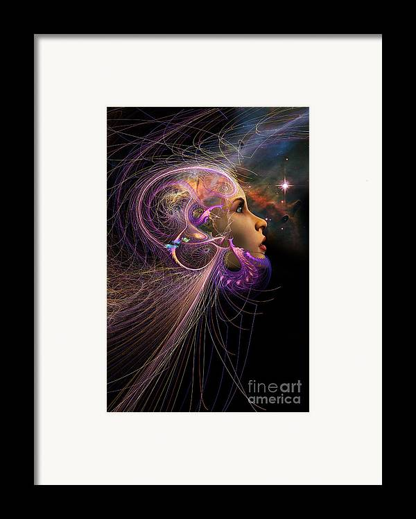Starchild Framed Print featuring the digital art Starborn by John Edwards