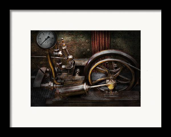 Hdr Framed Print featuring the photograph Steampunk - The Contraption by Mike Savad