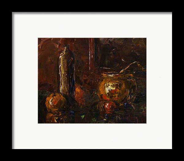 Still Life Framed Print featuring the painting Still by Michael Lang