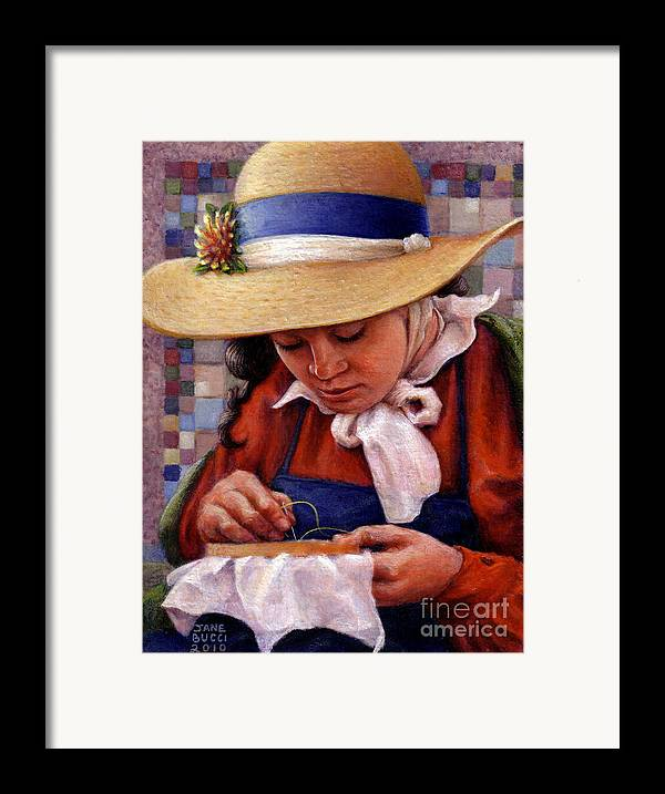 Occupy China Framed Print featuring the painting Stitch In Time by Jane Bucci