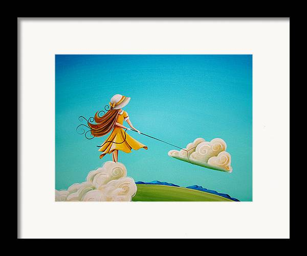 Girl Framed Print featuring the painting Storm Development by Cindy Thornton